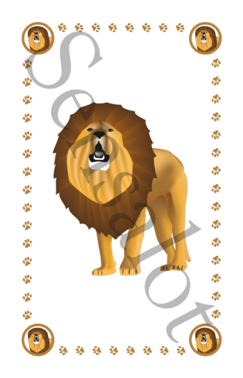 leeuw kaart van het spel Tetteretet