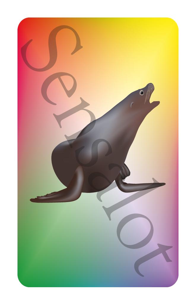 Zeehond kaart in het spel Tetteretet